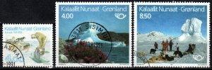 Greenland #239-41  F-VF Used CV $6.60 (X412)