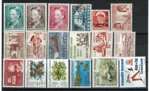 Greenland 18 Mostly Mint Stamps, very few faults - C428