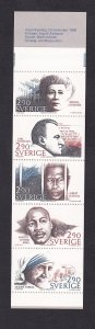 Sweden   #1618a-1622a   MNH  1986   booklet  Nobel prize winners