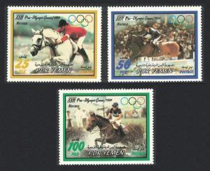 Yemen Horses Olympic Games Los Angeles 3v SG#297-299
