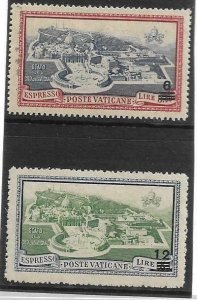 1946    VATICAN CITY  -  SG.  E118 / 119  -  EXPRESSED STAMPS  -  MOUNTED  MINT