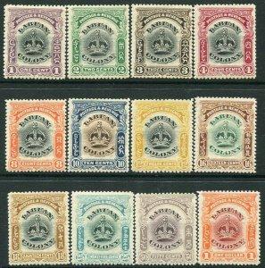 LABUAN-1902 Set to $1 Sg 117-128 MOUNTED MINT V33076
