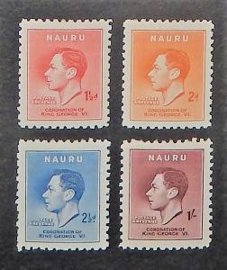 Nauru 35-38. 1937 Coronation