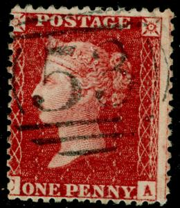 SG40, 1d rose-red, LC14, FINE USED. Cat £12. CA