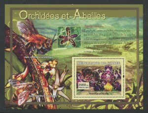 Guinea MNH S/S Orchids & Bees 2007