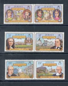 Jersey Sc 289-4 1982 France Links stamps mint NH