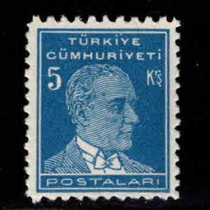 TURKEY Scott 1024 MH* stamp from 1950 -1951 set