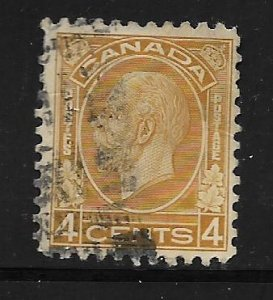CANADA, 198, USED, KING GEORGE V