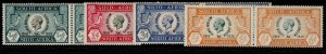 SOUTH AFRICA GV SG65-68, SILVER JUBILEE set, NH MINT. Cat £45.