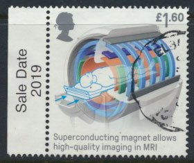 Great Britain Used  Inventions  £1.60 value issued 2019  Super Conducting Ma...