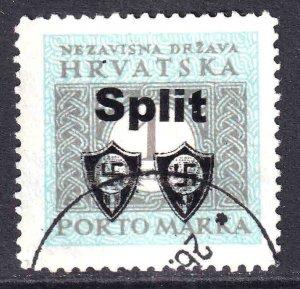 CROATIA J12 WW2 SPLIT OVERPRINT CDS VF SOUND