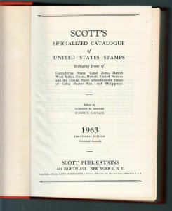 1963 Scott United States Specialized Catalog 650 pages hardbound
