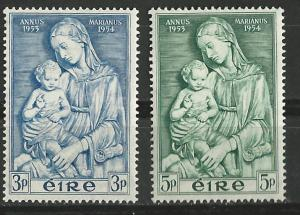 Ireland # 151-152 Marian Year (2) Unused VLH