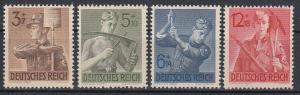 GERMANY Reich 1943 Mi# 850-853 MNH