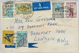 58340 -  Mozambique - POSTAL HISTORY: COVER to LONDON 1956 - BUTTERFLIES fish