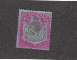 BERMUDA # 50 LIGHTLY USED KGV 2/6d CAT VALUE $100