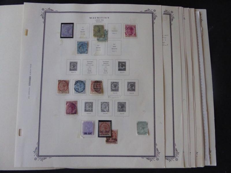 Mauritius 1876-1980 Mint/Used Stamp Collection on Scott Specialty Album Pages