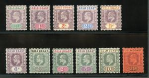 GOLD COAST SCOTT#34/46,SG#41/53  MINT LIGHT HINGED--SCOTT $517.00