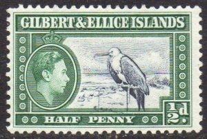 Gilbert & Ellice Islands 1939 ½d Great Frigatebird MH