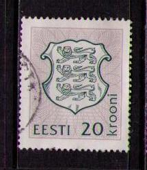 ESTONIA Sc# 223 USED FVF Coat of Arms