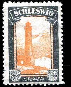 Germany 1920's Lost Colonies Schleswig Lighthouse Mourning Poster Stamp MH