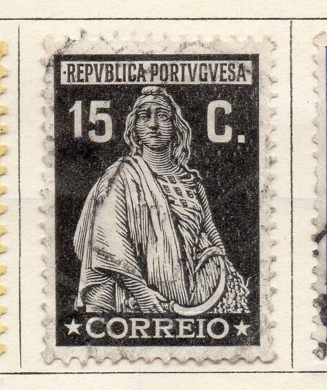 Portugal 1917-25 Early Issue Fine Used 15c. 143609