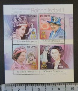 St Thomas 2013 queen elizabeth ii women royalty m/sheet mnh