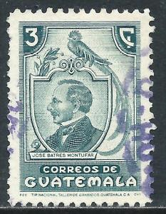 Guatemala, Sc #318, 3c Used