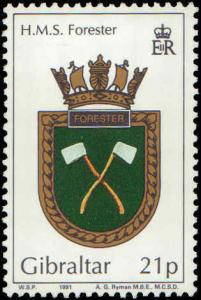 1991 Gibraltar #587-590, Complete Set(4), Never Hinged