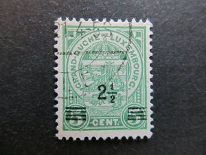 A4P27F110 Letzebuerg Luxembourg 1916-24 surch 2 1/2c on 5c used