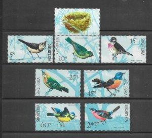 BIRDS- ALBANIA #1367-73  MNH