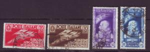 J20331 jlstamps 1935 italy set used #345-8 da vinci