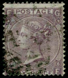 SG97, 6d lilac plate 6, USED. Cat £250. GF