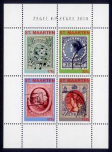 St. Martin Sc# 59 MNH Classic Netherlands Stamps (M/S of 4)