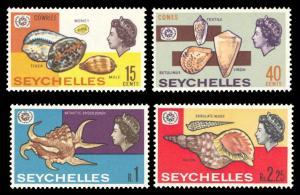 Seychelles 1967 Scott #237-240 Mint Never Hinged