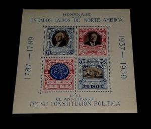GUATEMALA #C92, 1983, CONSTITUTION ANNIVERSARY, SOUVENIR SHEET, MH, NICE! LQQK