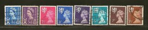Great Britain Lot of 8 Different QEII Regional Issues Used