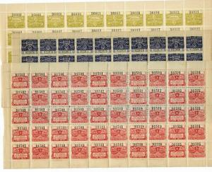 South America Stamps 1914 Mint OG NH 3 Sheets Revenues