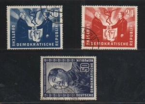 Germany (GDR) #82 - #84 VF Used Set