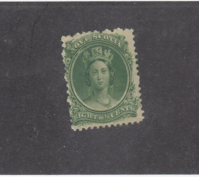 NOVA SCOTIA # 11 FVF-MH 81/2cts QUEEN VICTORIA GREEN CAT VALUE $12