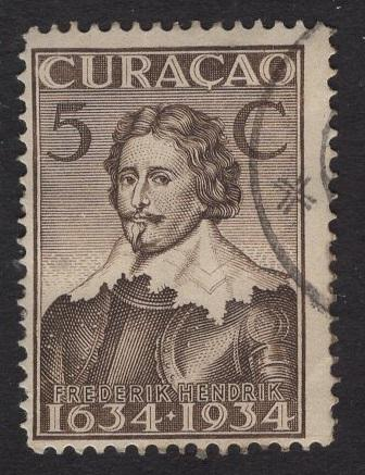 Netherlands Antilles  #114  1934 used  Curacao  300 yrs  5C