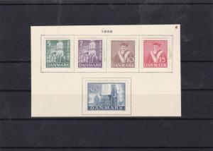 denmark 1936 mounted mint  stamps set cat £23  ref 7629