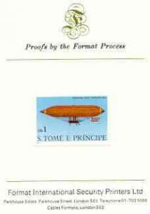 St Thomas & Prince Islands 1980 Airships 1Db (Paul Ha...
