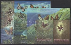 Tuvalu stamp MNH Butterfly minisheet set, block WS90848
