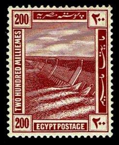 1914 Egypt #59 Aswan Dam Wmk 119 - OGNH - VF - CV$42.50 (ESP#3240)