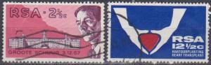 South Africa #355-6 F-VF Used (B669)