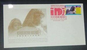 A) 1998, MEXICO, ANNIVERSARY OF THE NATIONAL INDIGENOUS INSTITUTE, FDC, XF