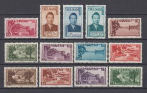 Vietnam 1951 Full Set Bao Dai Sc#1/13 MNH Luxe High C.V. $300 White Shiny Gum