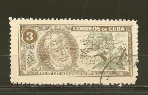 Cuba Ernest Hemingway 3 Cents Used