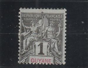 French Guiana  Scott#  32  MH  (1892 Navigation & Commerce)